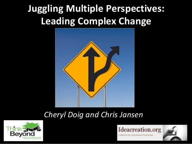 Juggling Multiple Perspectives: Leading Complex Change  Cheryl Doig and Chris Jansen 1