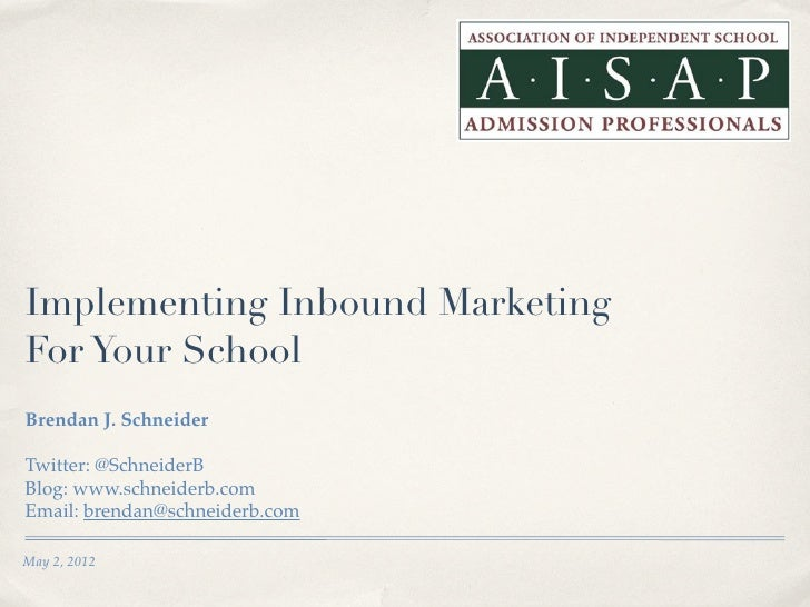 Implementing Inbound Marketing For Your School