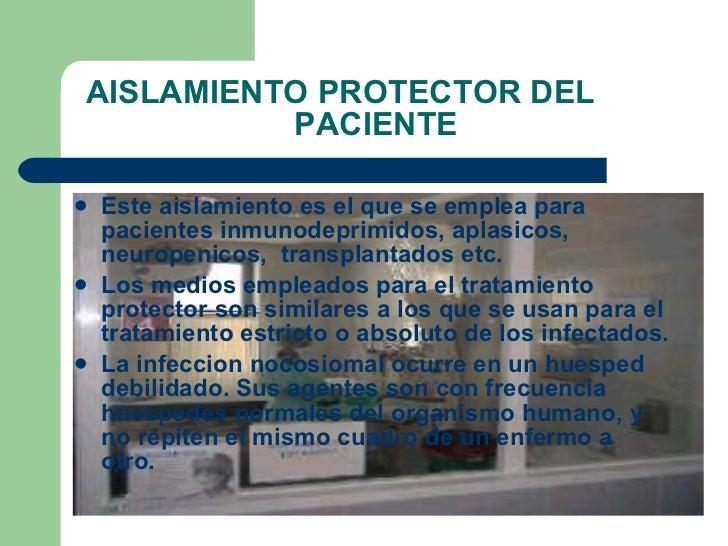 Aislamiento protector del  paciente inmunodeprimido