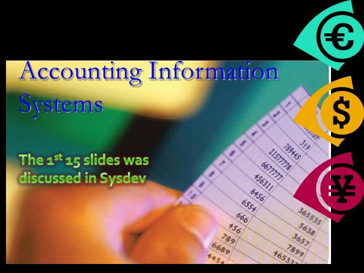 Accounting InformationSystems