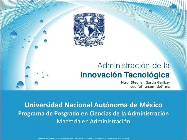 Presentación+por+Stephen García Garibay se encuentra bajo una Licencia Creative Commons Atribución-NoComercial 3.0 Unporte...