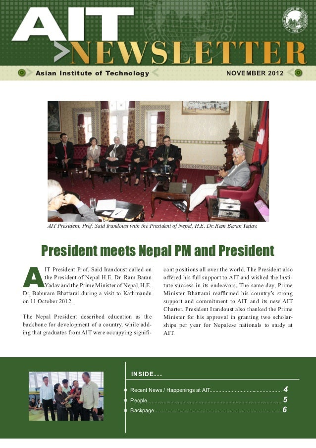 1     Asian Institute of Technology                                                                      NOVEMBER 2012    ...