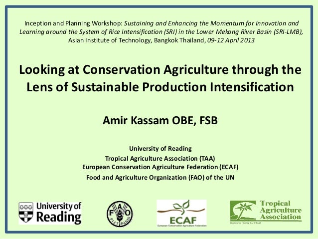 Conservation Agriculture & SRI for climate change adaptation and food security