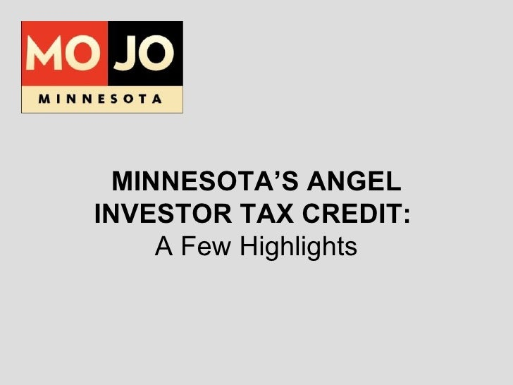 MOJO Guide to Angel Investor Tax Credit