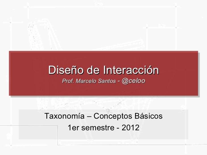 Arquitectura de Información  y Usabilidad Prof. Marcelo Santos  Clase 6: Taxonomía – Conceptos Básicos 2 semestre - 2009