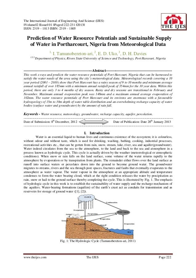 The International Journal of Engineering And Science (IJES)||Volume||2 ||Issue|| 01 ||Pages|| 222-231 ||2013||ISSN: 2319 –...