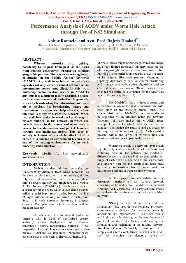 Ankur Ratmele, Asst. Prof. Rajesh Dhakad / International Journal of Engineering Researchand Applications (IJERA) ISSN: 224...