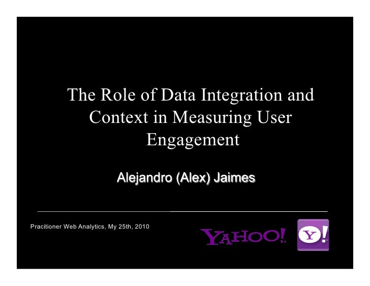 The Role of Data Integration and               Context in Measuring User                       Engagement    Pracitioner W...