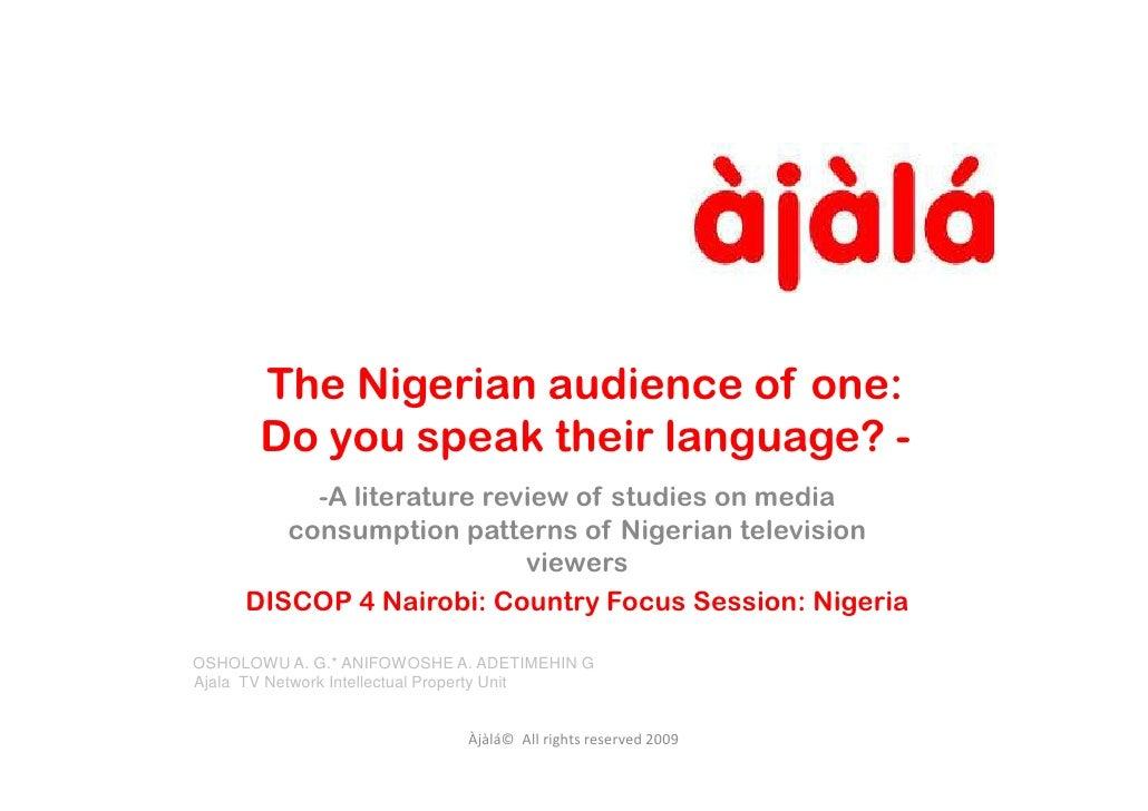 Ajala TV discop4 Nigeria panel__2010