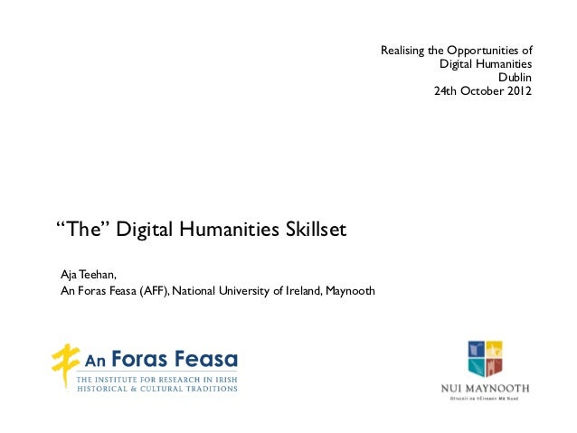 Realising the Opportunities of                                                                             Digital Humanit...