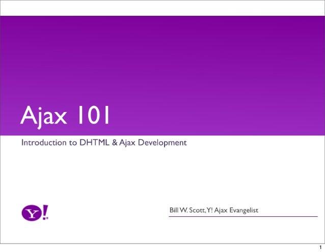 Ajax 101 Workshop