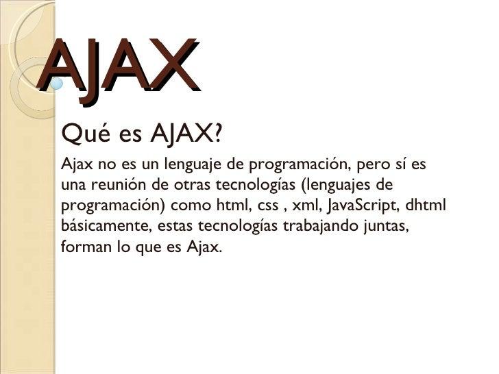 Inicios Ajax