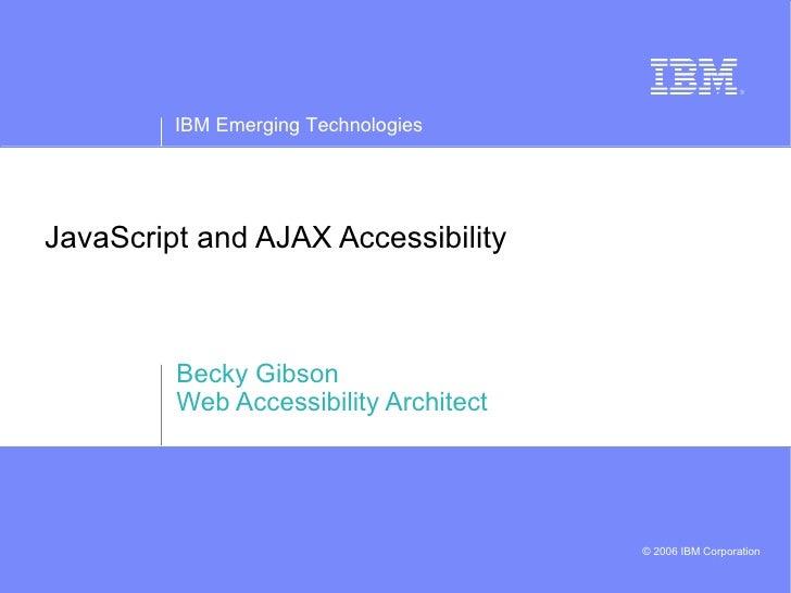 Ajax Y Accesibilidad