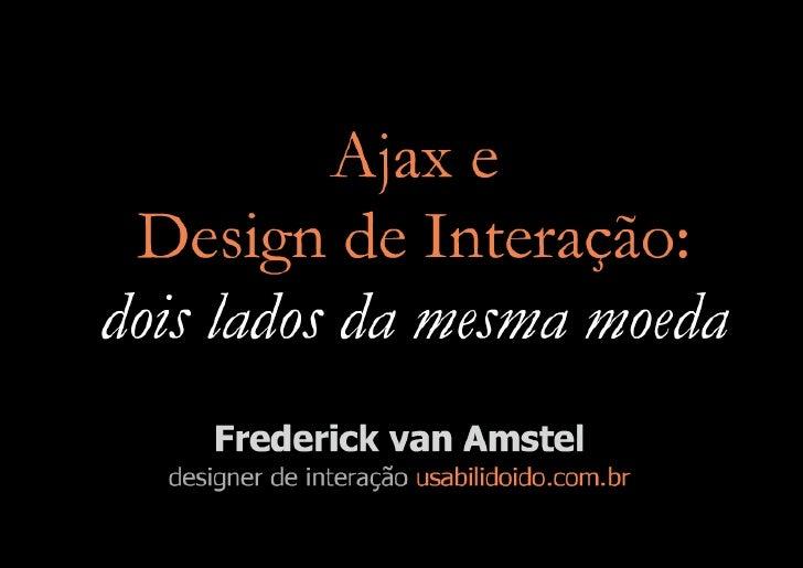 Ajax e Design de Interação (versão longa)
