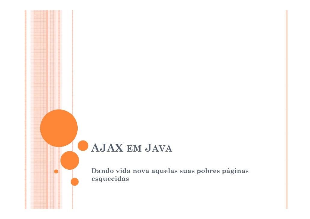 Ajax em java