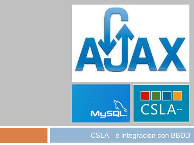 CSLA-- e integración con BBDD