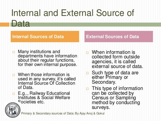 Primary And Secondary Data Collection Ajay Anoj Amp Gokul