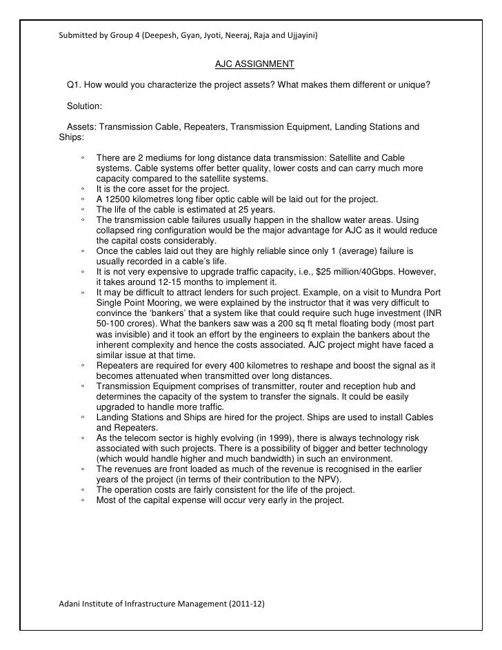 AJC Case Analysis