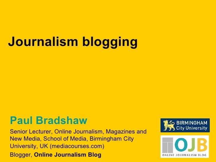 Journalism Blogging