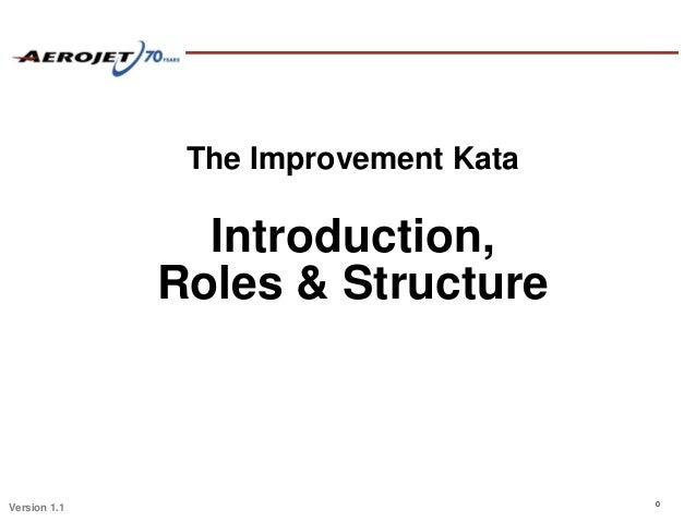 The Improvement Kata                Introduction,              Roles & Structure                                      0Ver...