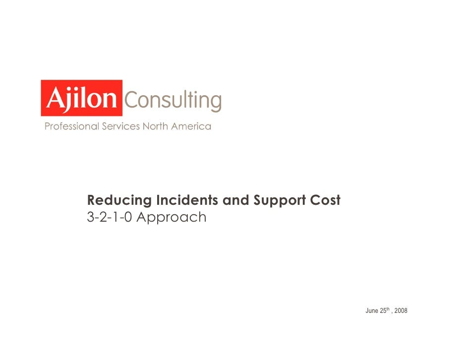 """Reducing Incidents and Support Cost 3-2-1-0 Approach          """"Delivering flexible IT      solutions & services to help   ..."""