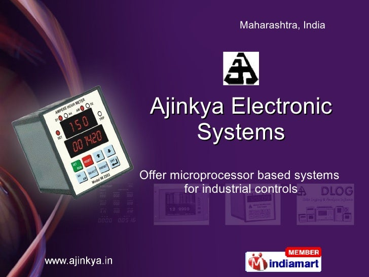 Ajinkya Electronic Systems Offer microprocessor based systems  for industrial controls