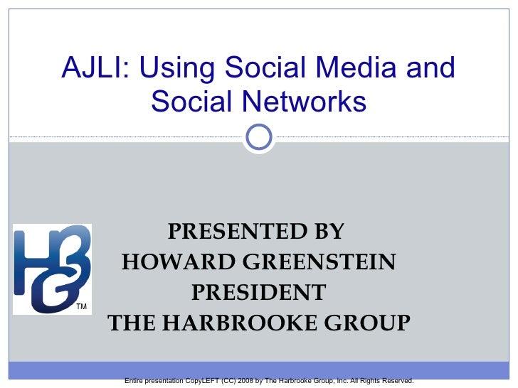 AJLI Presentation on Social Medi