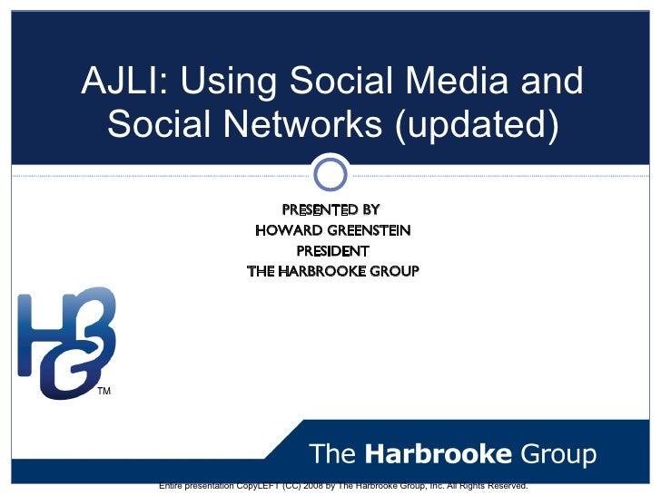 AJLI Basics of Social Networks