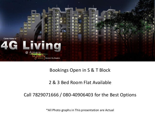 Bookings Open in S & T Block           2 & 3 Bed Room Flat AvailableCall 7829071666 / 080-40906403 for the Best Options   ...