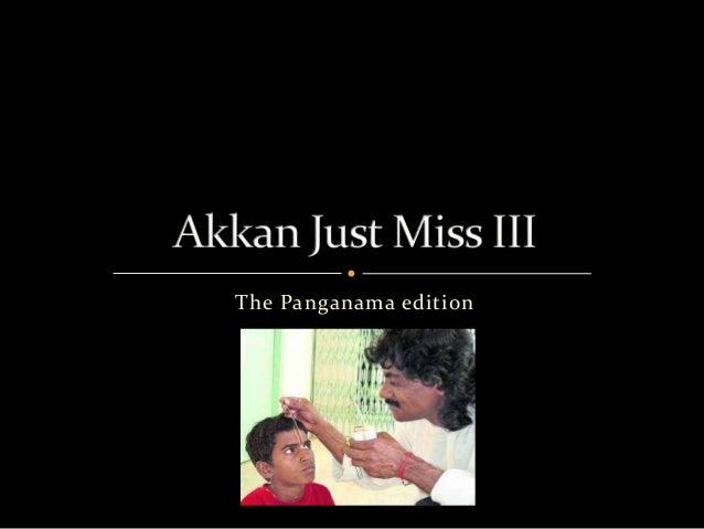 The Panganama edition