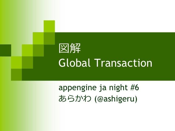 図解 Global Transaction  appengine ja night #6 あらかわ (@ashigeru)