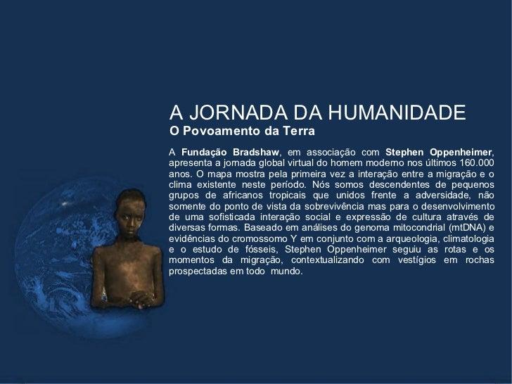 A jornada da humanidade