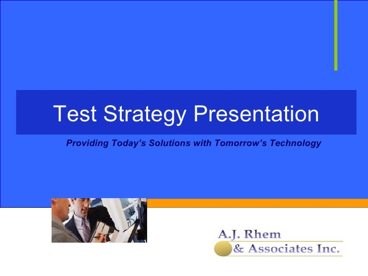 AJRA Test Strategy Discussion