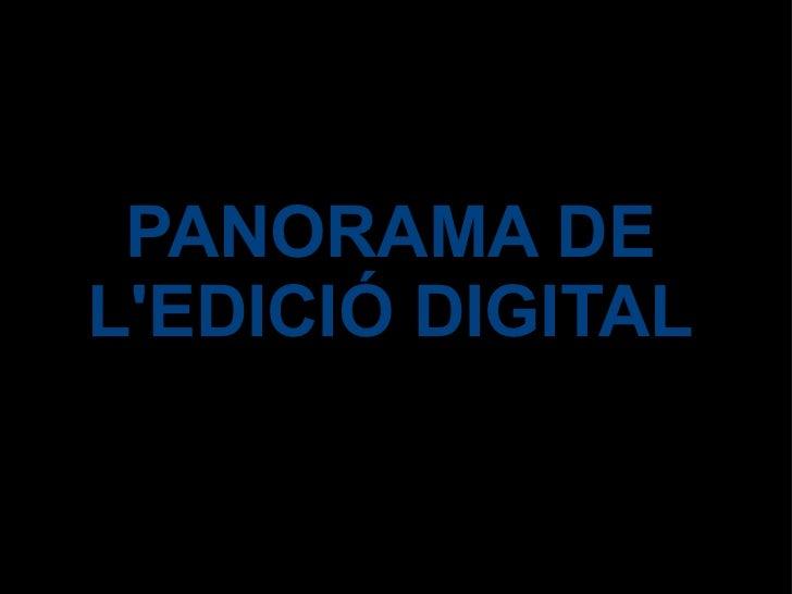 Panorama de l'edició digital / Josep M. Vinyes