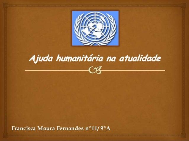 Ajuda humanitária na atualidade