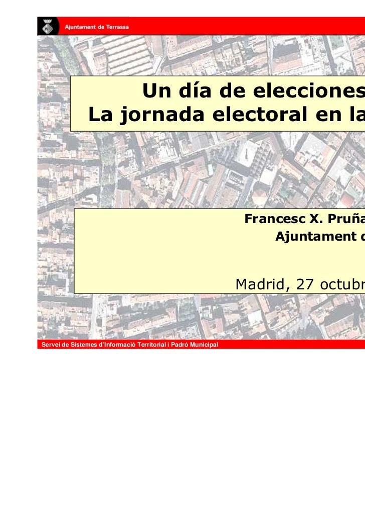 Un Día de Elecciones: la Jornada Electoral en la Web