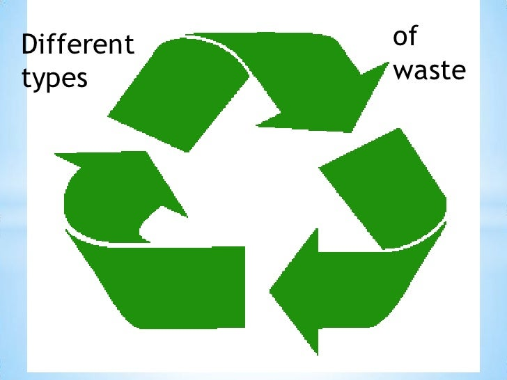 Different   oftypes       waste