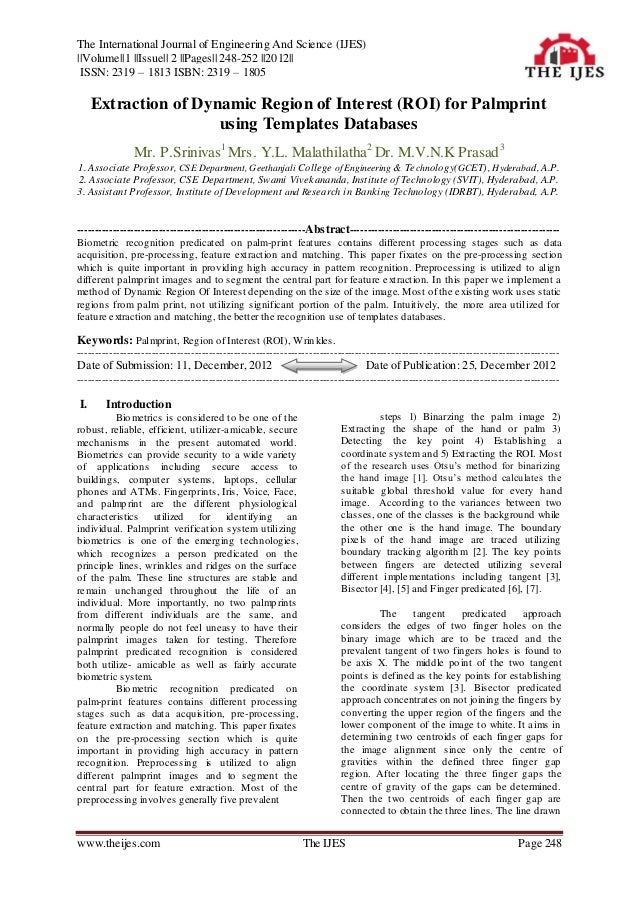The International Journal of Engineering And Science (IJES)||Volume||1 ||Issue|| 2 ||Pages|| 248-252 ||2012|| ISSN: 2319 –...