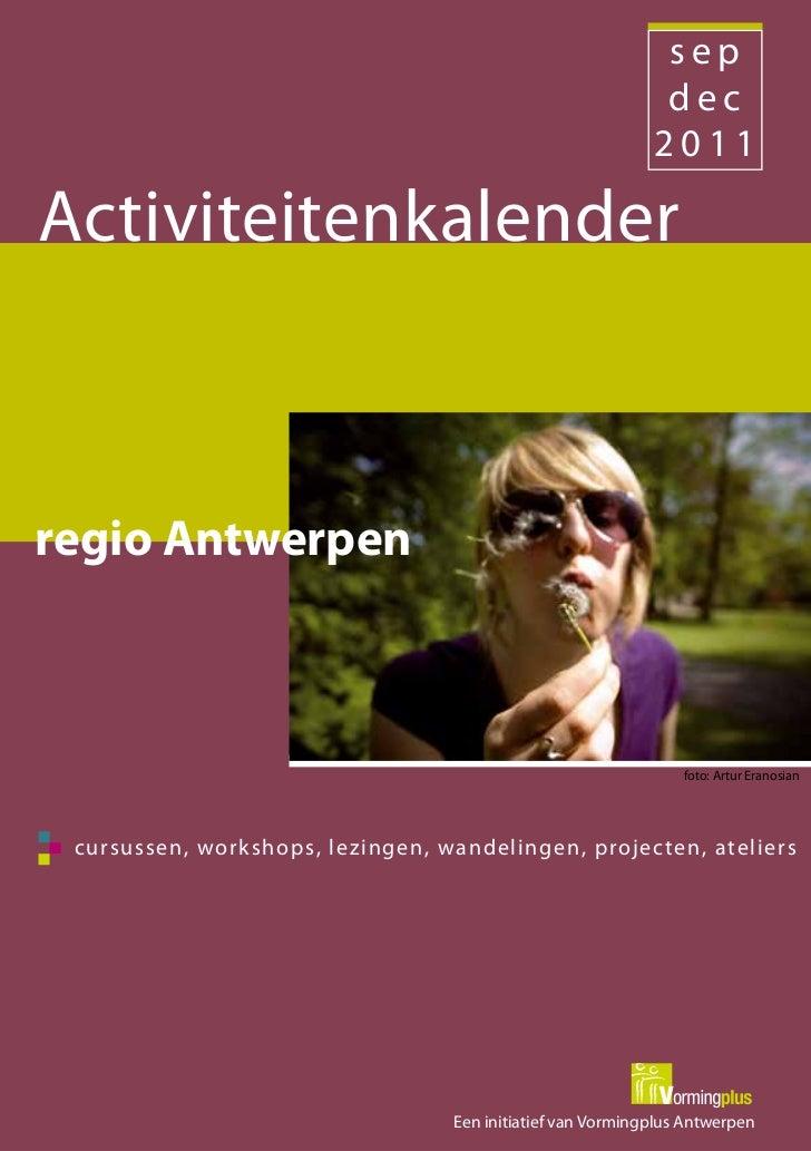 Activiteitenkalender september-december 2011