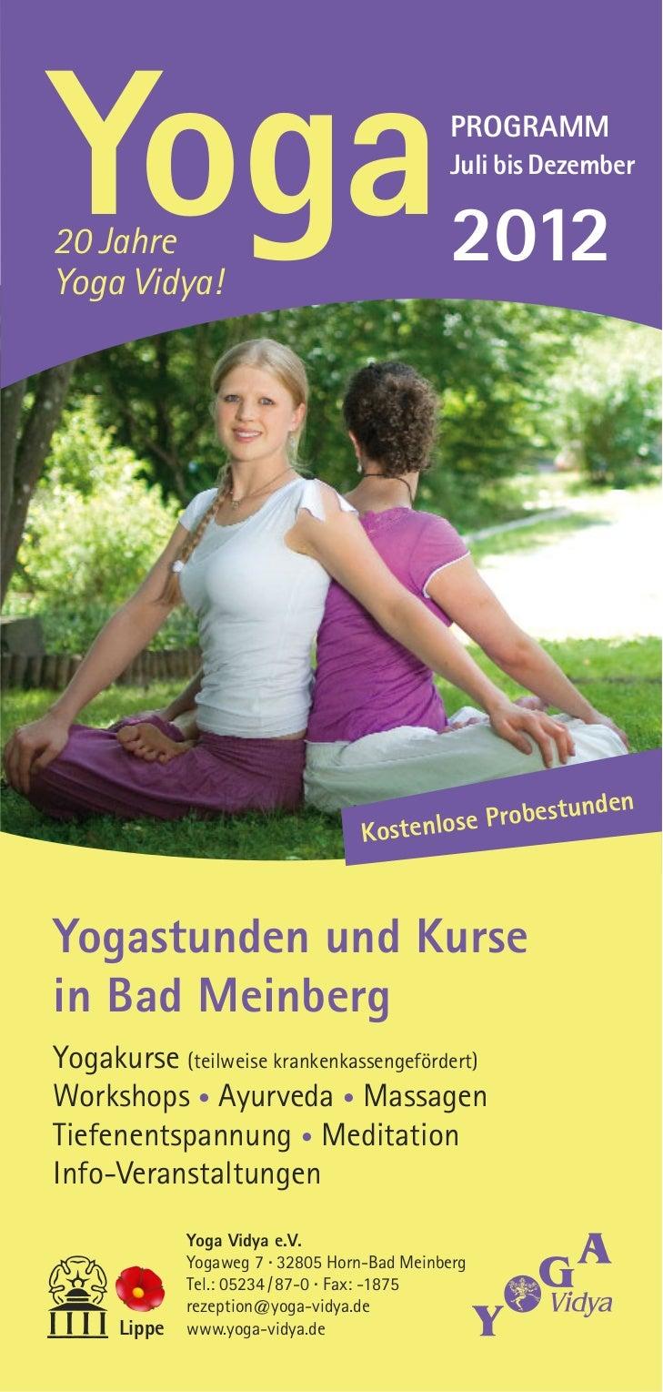 Yoga20 JahreYoga Vidya!                                              PROGRAMM                                             ...