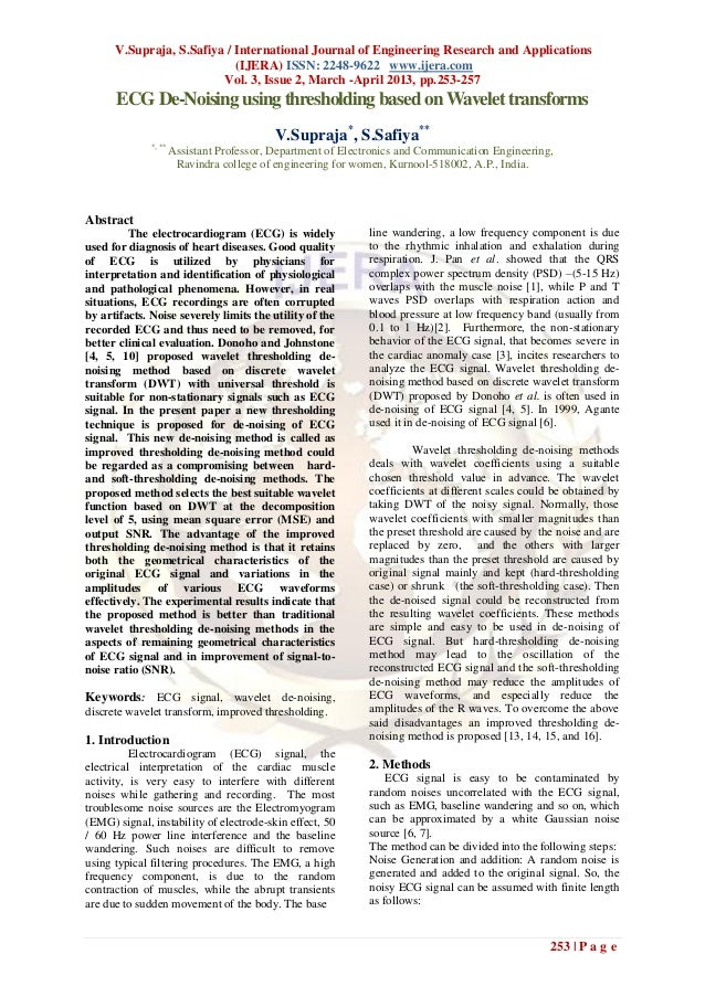 V.Supraja, S.Safiya / International Journal of Engineering Research and Applications                            (IJERA) IS...