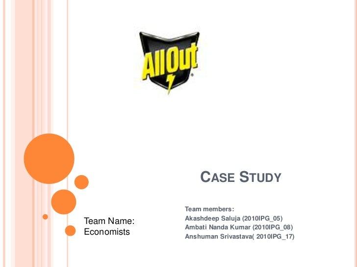 Case Study<br />Team members:<br />Akashdeep Saluja (2010IPG_05)<br />Ambati Nanda Kumar (2010IPG_08)<br />Anshuman Srivas...