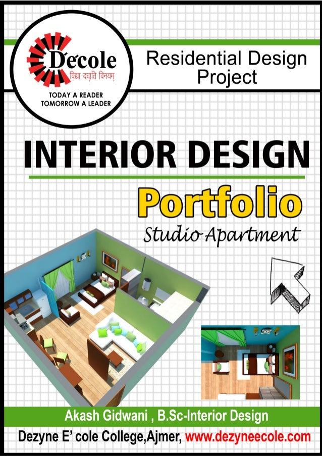 Akash gidwani residential portfolio b sc id studio apartment case stu - Case study small apartment ...