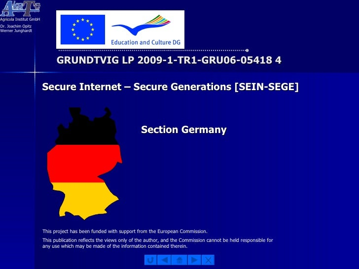 GRUNDTVIG LP 2009-1-TR1-GRU06-05418 4 This project has been funded with support from the European Commission. This publica...