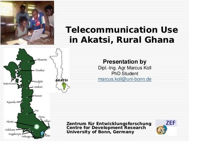 Telecommunication Use in Akatsi