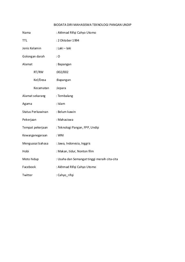 biodata design