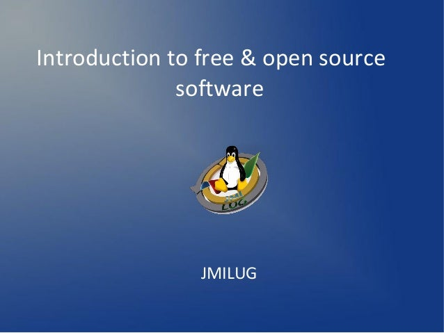 Introduction to free & open source software JMILUG