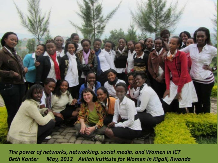 The power of networks, networking, social media, and Women in ICTBeth Kanter May, 2012 Akilah Institute for Women in Kigal...