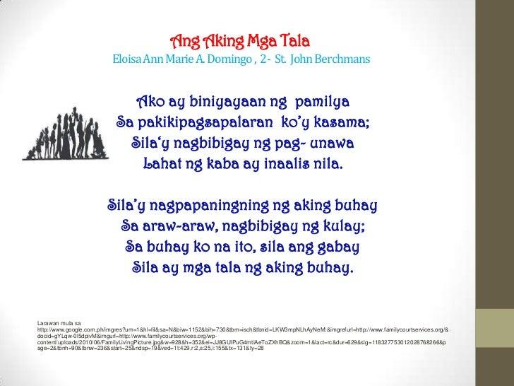 Ang Aking Pamilya ni Eloisa Ann Marie Domingo