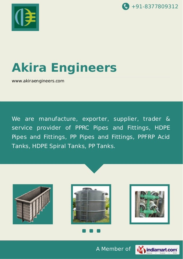 +91-8377809312  Akira Engineers www.akiraengineers.com  We are manufacture, exporter, supplier, trader & service provider ...